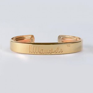 Mandela Gold Bangle 24 kt.