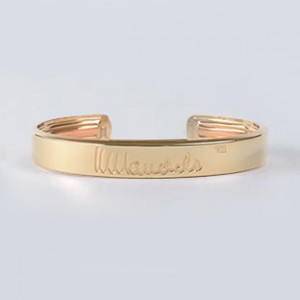 Mandela Gold Bonded Bangle Large