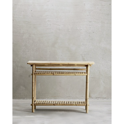 Side table from bamboo TineKhome